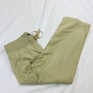 Tommy Hilfiger Pull On Crop Cargo Drawsting Pants